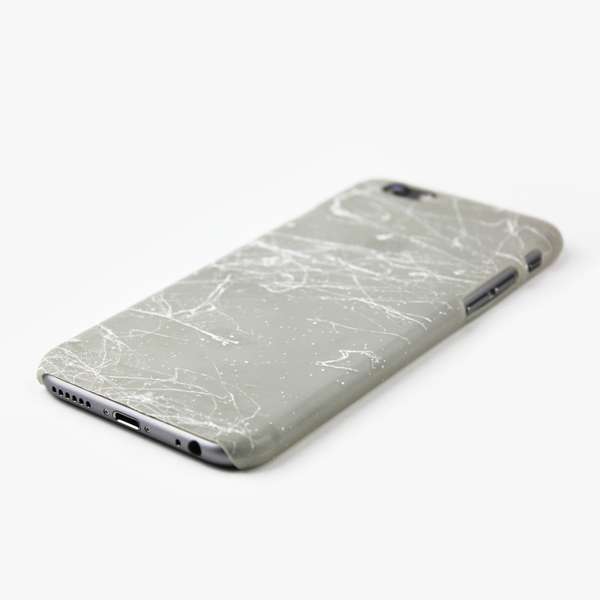 White Splatter Glow in the Dark iPhone Case - By Dominic  - 2