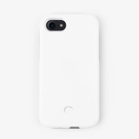 White Light Up Selfie iPhone Case