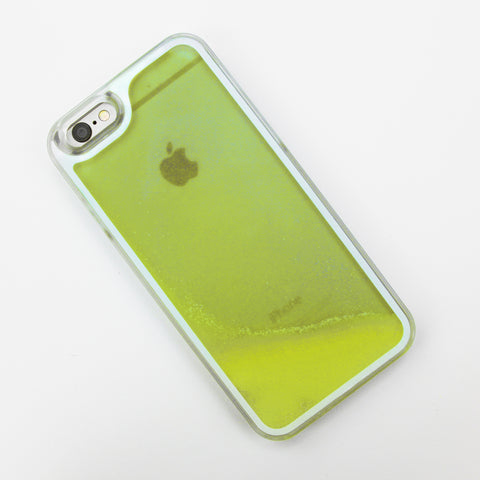 Yellow Glow in the Dark Liquid iPhone Case - By Dominic  - 1