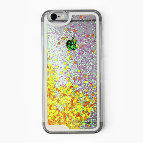 Yellow Holographic Hearts Case - By Dominic  - 1