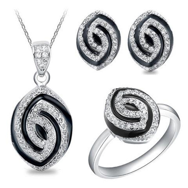 Clearance 925 Sterling Silver Horse Eye Jewelry Sets-Rama Deals