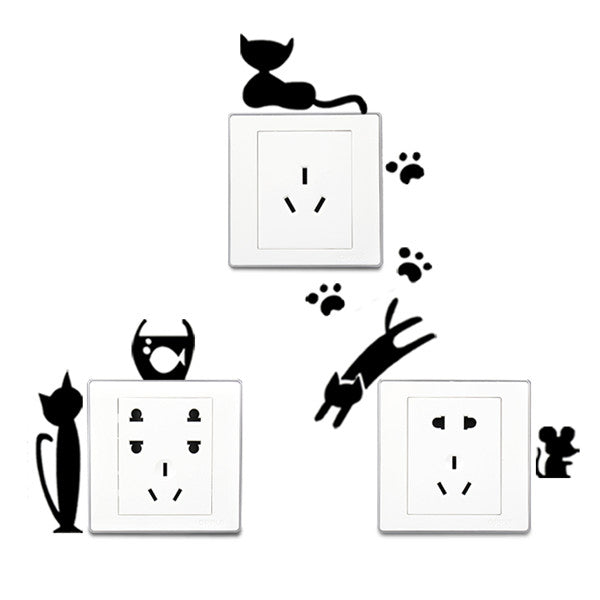 5 pc. Lovely Cat Switch Sticker-Rama Deals