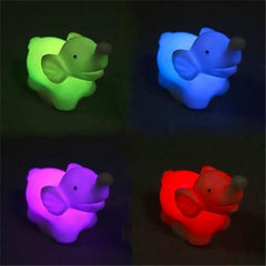1 Pieces 7 Color Changing Elephant Led Night Light Lamp with Battery