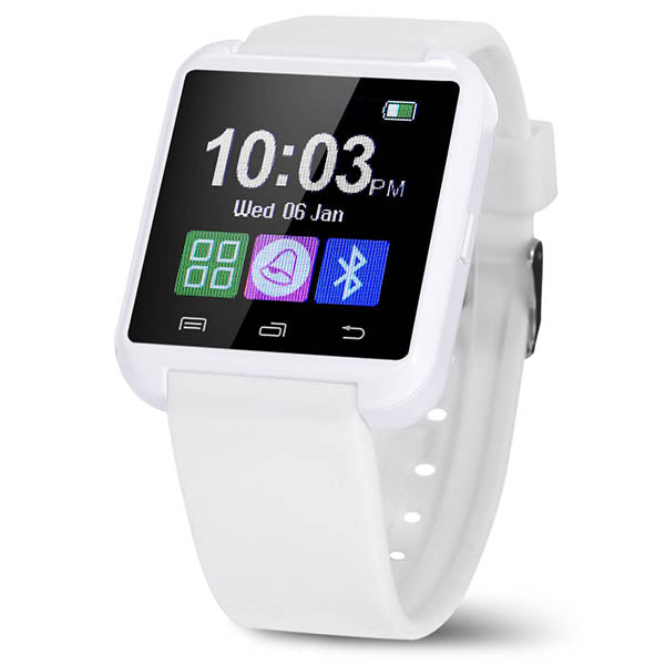 "Bluetooth 4.0 Silicone Smart Watch with 1.26"" Touchscreen for iOS & Android - Assorted Colors-Rama Deals"