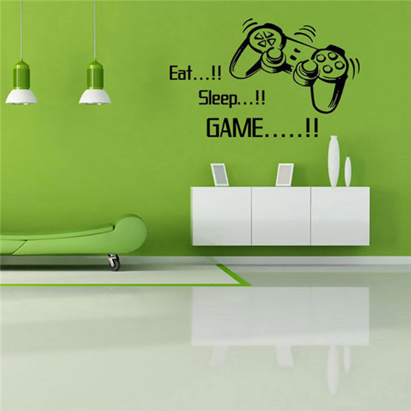"""Eat Sleep GAME"" Removable Wall Stickers-Rama Deals"