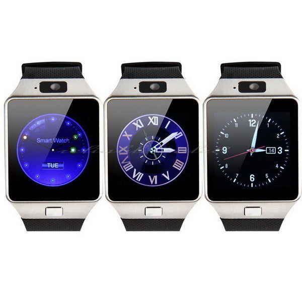 Fashionable DZ09 Bluetooth Smart Watch - Black, White, Gold Color-Rama Deals
