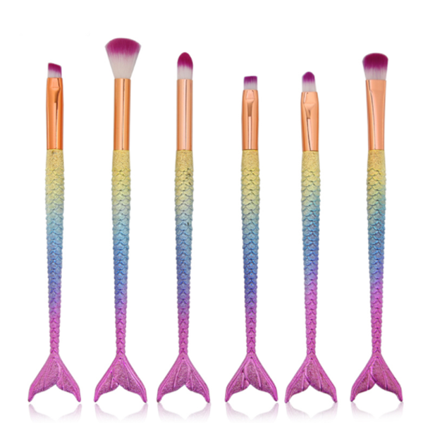 4/6 Pieces Mermaid Bright Color Eyeshadow Brush-Rama Deals