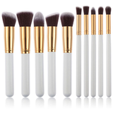 10 Piece Kabuki Brush Set-Rama Deals
