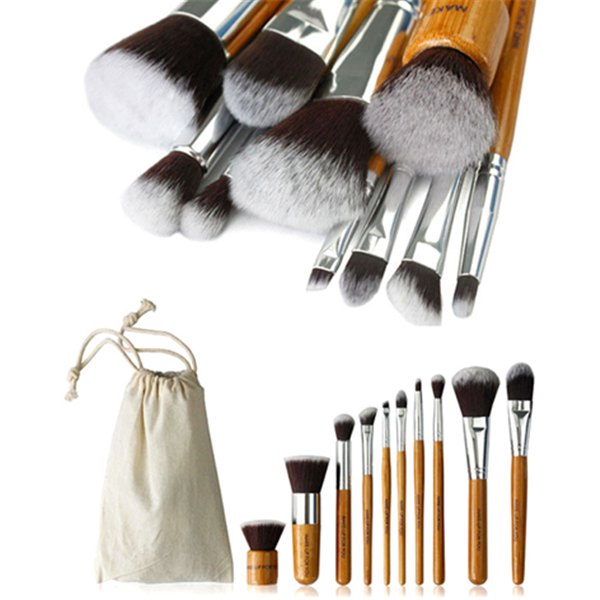10 Piece Bamboo Brush Set With Free Case-Rama Deals