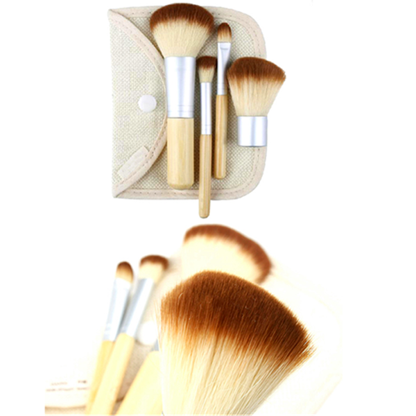 Clearance Mini 4 Piece Bamboo Brush Set-Rama Deals
