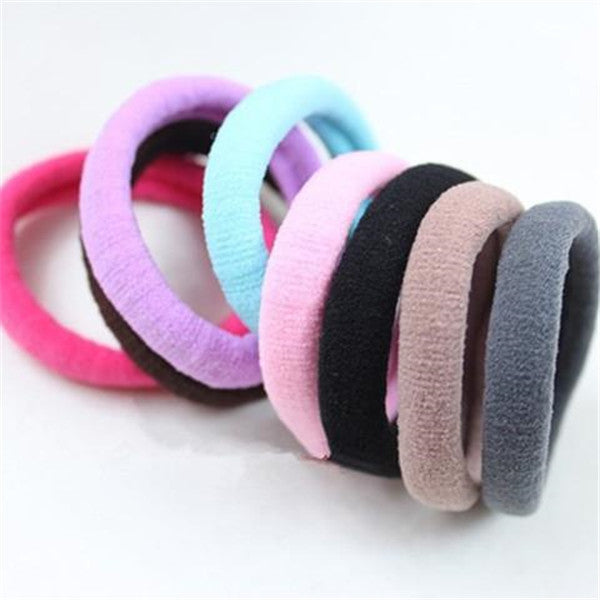 Clearance 10pcs Candy Colored Fluorescent Rubber Hair Bands-Rama Deals