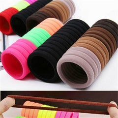 10pcs Candy Colored Fluorescent Rubber Hair Bands