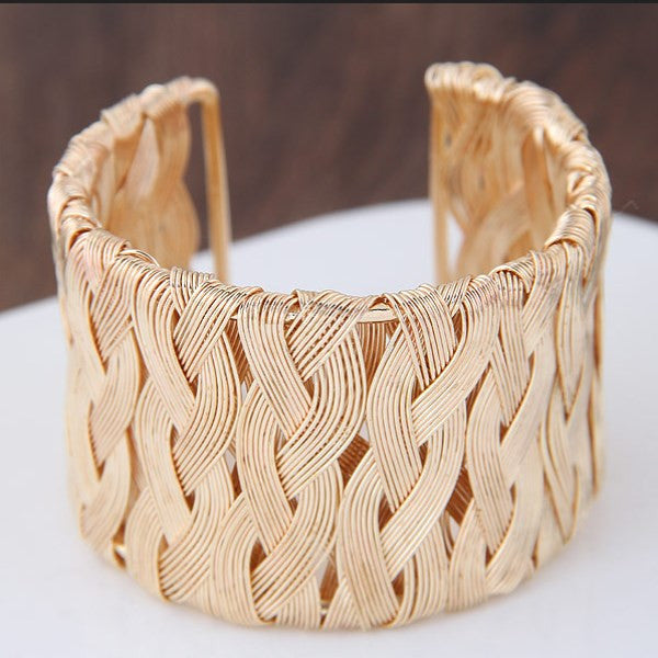 Clearance Woven Metal Wire Bracelet-Rama Deals