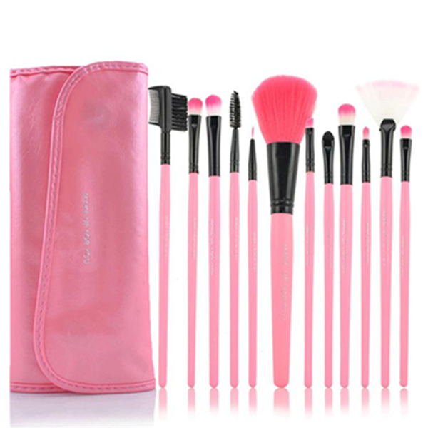 12 Piece Pink Glory Brush Set-Rama Deals