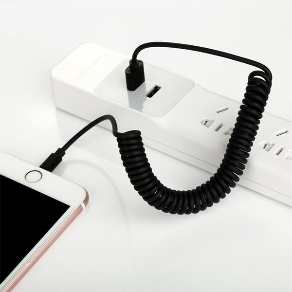Flexible Elastic Stretch Charging Cable For iPhone-Rama Deals