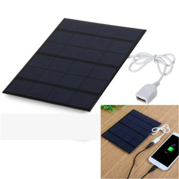 3.5W 6V Solar Panel Power Bank Charger - PURPLISH BLUE-Rama Deals