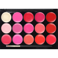 15 Color Lip Gloss palette-Rama Deals