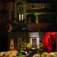Dual Color Christmas Light Projector - Waterproof & Remote Control - Rama Deals - 1