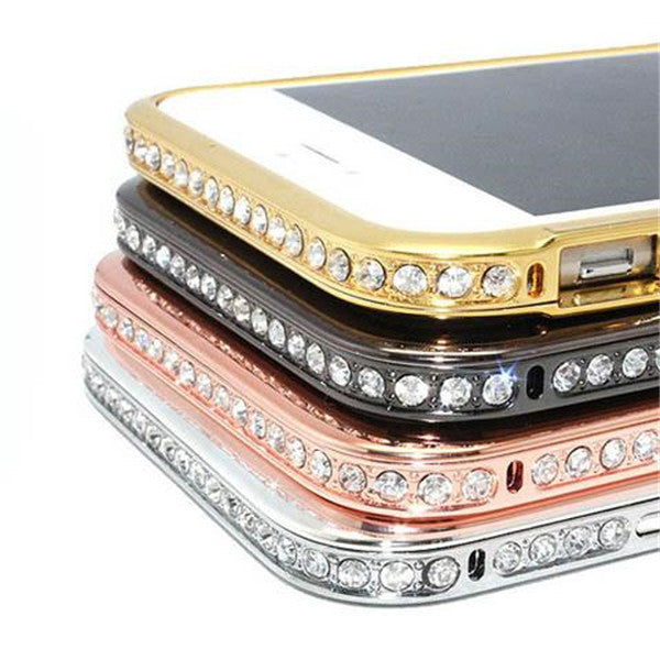 Diamond Metal Frame Shell Case For Iphone 6s plus or 6s-Rama Deals
