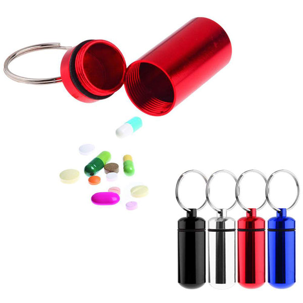 Clearance Waterproof Pill Bottle Metal Key Chain-Rama Deals