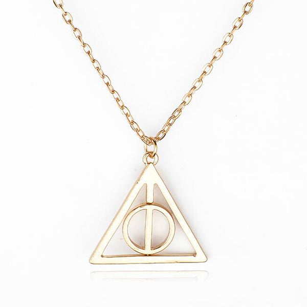 Necklace rama deals harry potter deathly hallows triangle metal pendant necklace rama deals mozeypictures Gallery