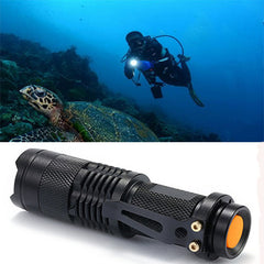 Waterproof Adjustable Focus Tactical LED Flashlight