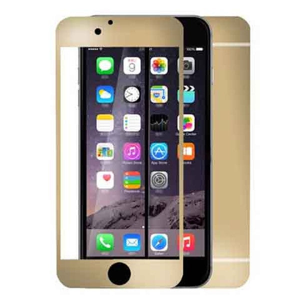 Iphone 6 Anti Scratches Mirror Front & Back Tempered Glass Screen Protector Gold-Rama Deals