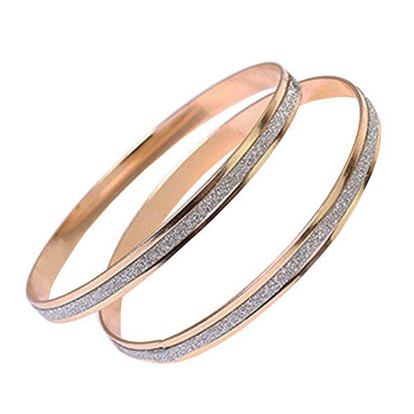 Clearance Fashion Double Ring Frosted Bracelet-Rama Deals