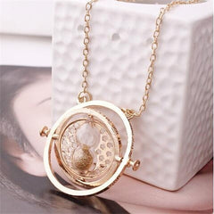 Rotating Time Turner  Necklace - Rama Deals - 1