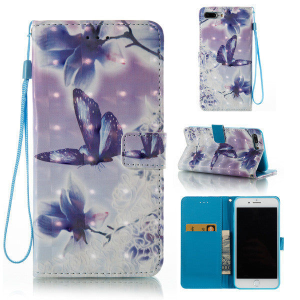 3D Painted Butterfly Loves Flower Phone Case for Android and iPhone-Rama Deals
