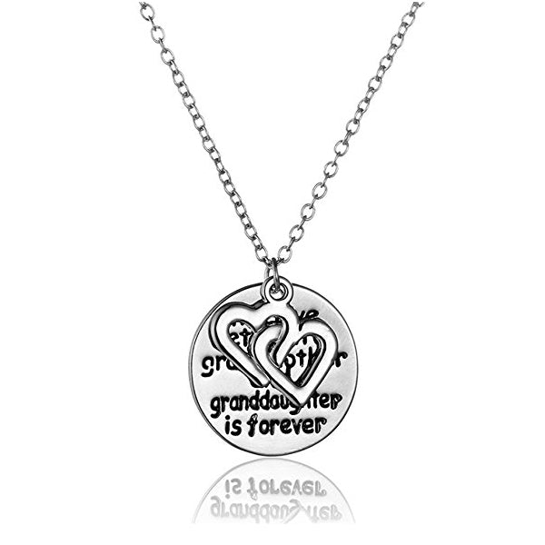 Love Between Grandmother And Granddaughter Double Heart Necklace-Rama Deals
