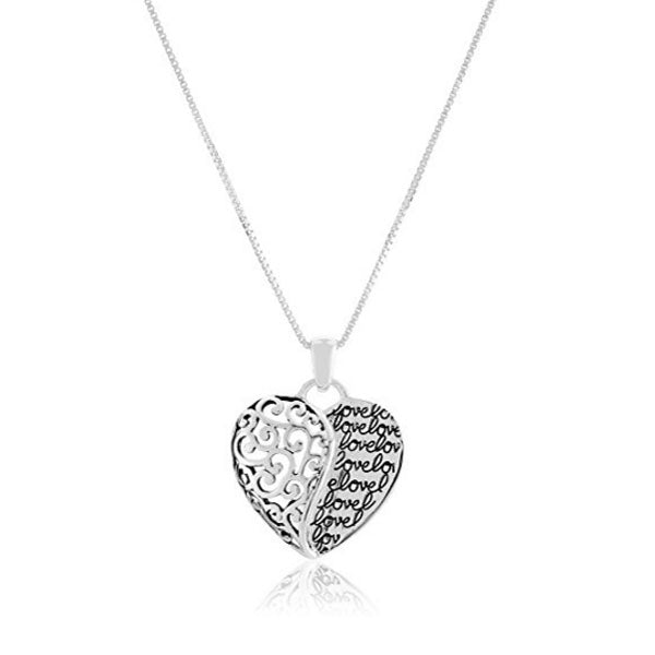 Clearance Mom and Daughter Love Piercing Heart Necklace-Rama Deals