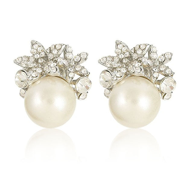 Clearance Double Sides Pearl Ball Stud Earrings-Rama Deals