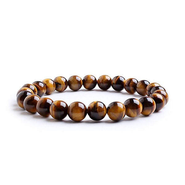 Clearance Tiger Eye Natural Stone Bracelet For Women and Men-Rama Deals