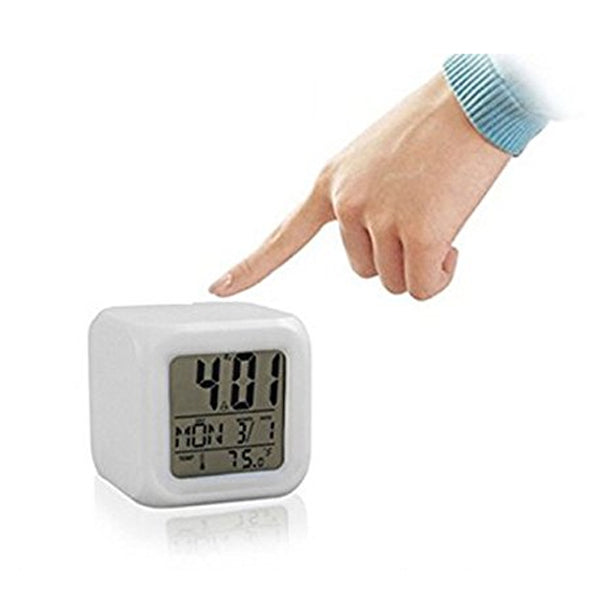 7 LED Colour Changing Digital LCD Alarm Clock-Rama Deals