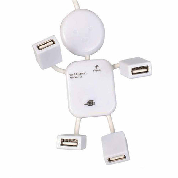 Doll Shape 4 Port USB HUB-Rama Deals