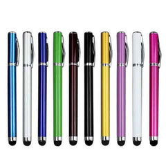 2 in 1 Touch Screen Stylus Metal Pen 10pcs
