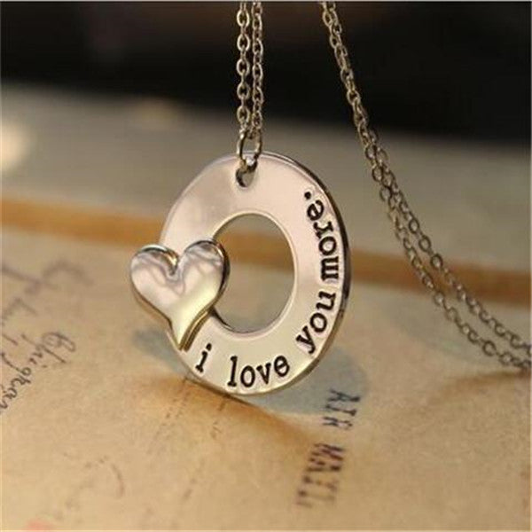 I love you more necklace-Rama Deals