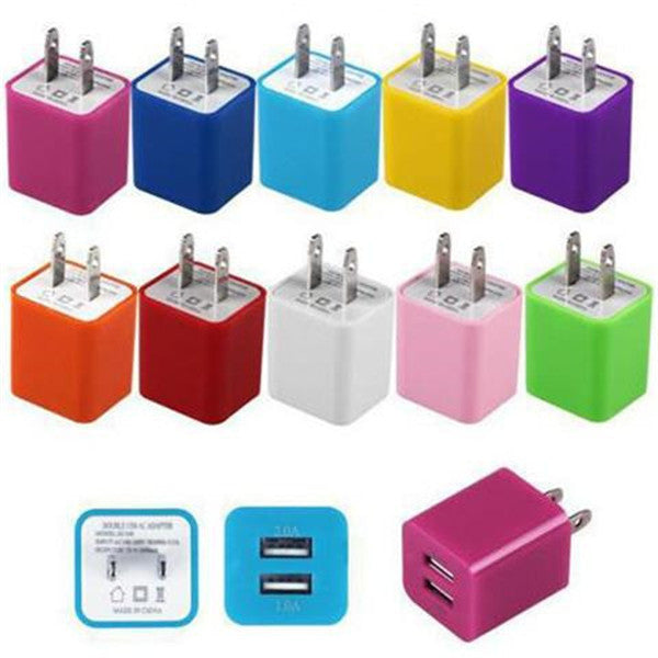 Clearance 2A&1A US Plug Dual Ports USB Wall Charger-Rama Deals