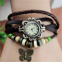 Butterfly Boho-Chic Vintage-Inspired Handmade Watch - Assorted Colors-Rama Deals