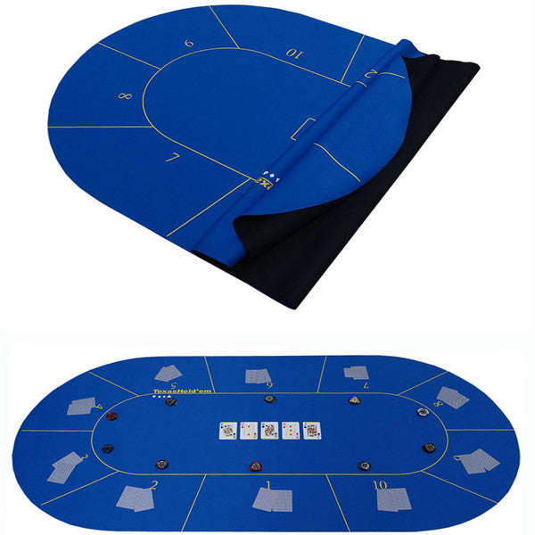 TEXAS HOLD'EM POKER GAME TABLE TOP [90CM X 180CM]-Rama Deals
