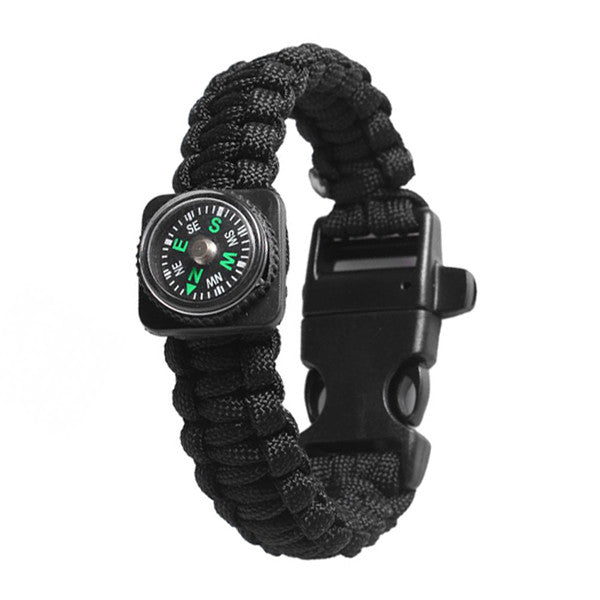 Clearance Outdoor 5 in 1 Survival Rescue Bracelet Rope with Compass-Rama Deals
