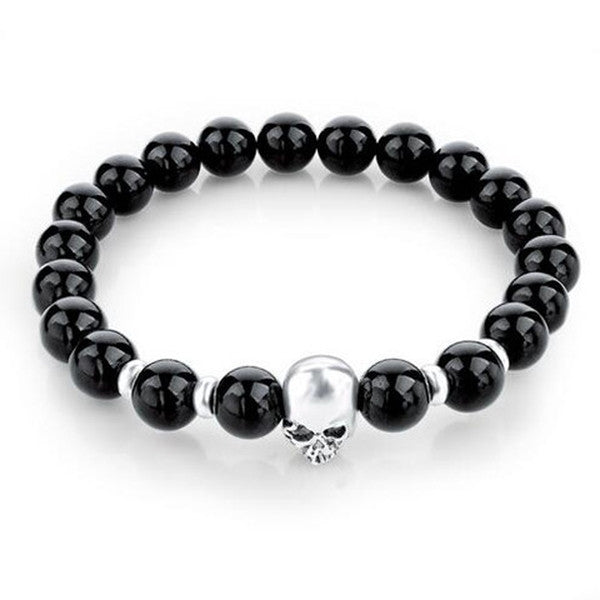 Natural Stones Skull Bracelet For Women and Men-Rama Deals