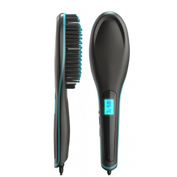 Clearance Ceramic Straightening and De-tangling Hair Brush-Rama Deals
