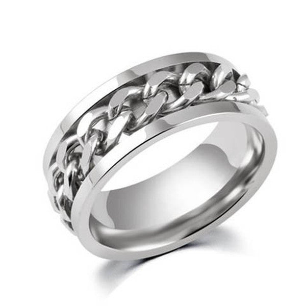 Clearance Stainless Steel Chain Rotatable Ring-Rama Deals