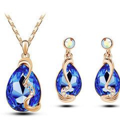 Austria Crystal Jewelry Sets - Earrings + Necklace + Ring