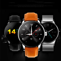 Smart Watch For  iOS and Android with Heart Rate Monitor and Bluetooth - Leather - Rama Deals - 1