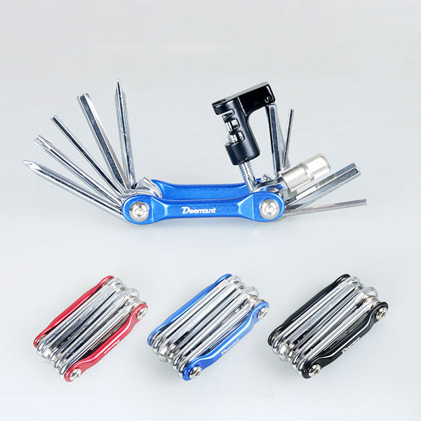 11 in 1 Aluminum Pocket Multi Tool Bicycle Repair Tool-Rama Deals