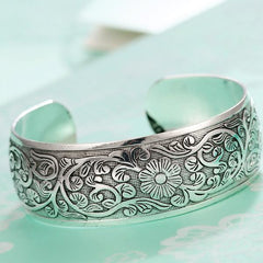 Flower Around Cuff Bangle - Rama Deals - 1