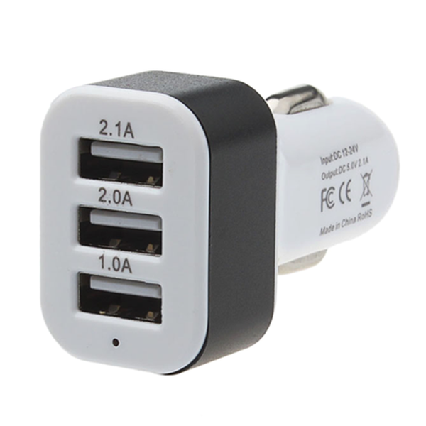 Clearance Universal 3-Port USB Car Charger Adaptor-Rama Deals